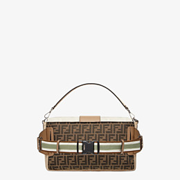 FENDI BAGUETTE LARGE - Brown fabric bag - view 3 thumbnail