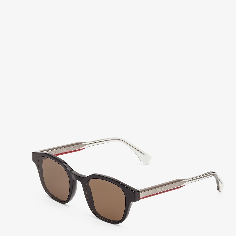 FENDI ROMA AMOR - Black sunglasses - view 2 detail