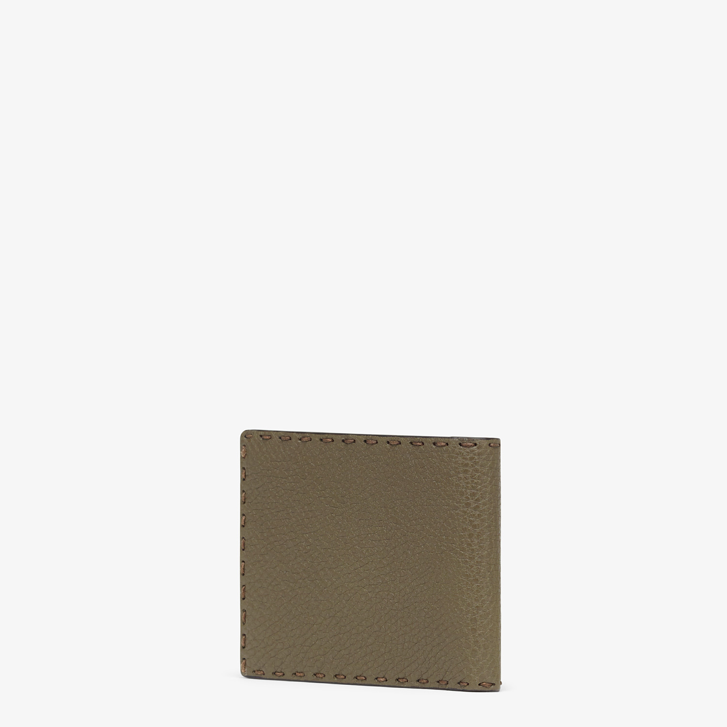 FENDI WALLET - Green leather bi-fold wallet - view 2 detail