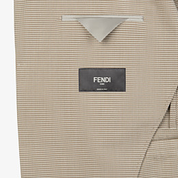 FENDI JACKET - Beige cotton blazer - view 5 thumbnail