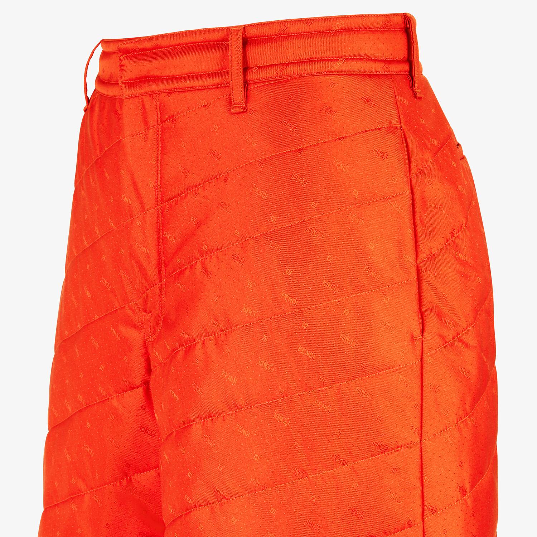 FENDI BERMUDAS - Red silk pants - view 3 detail