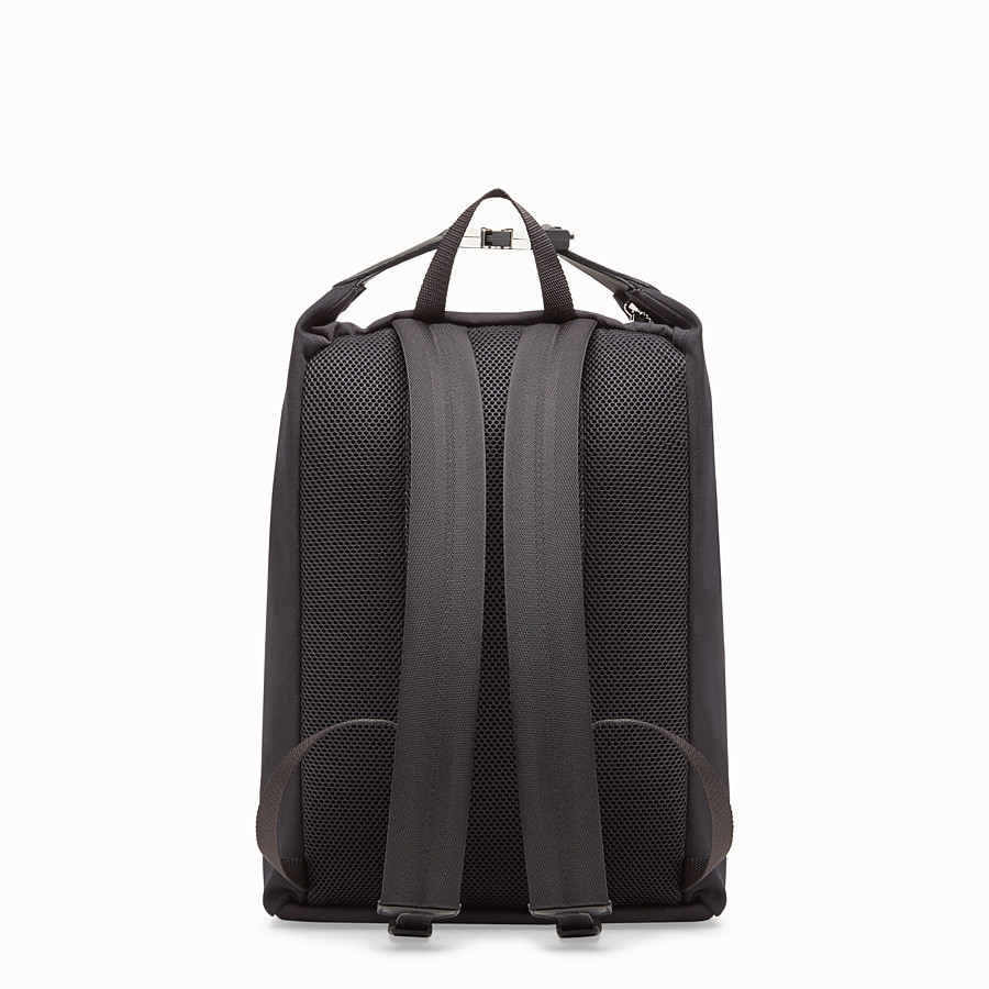 FENDI BACKPACK - Black canvas backpack - view 3 detail