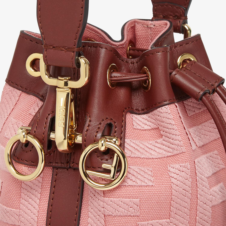 FENDI MON TRESOR - Pink canvas mini-bag - view 5 detail