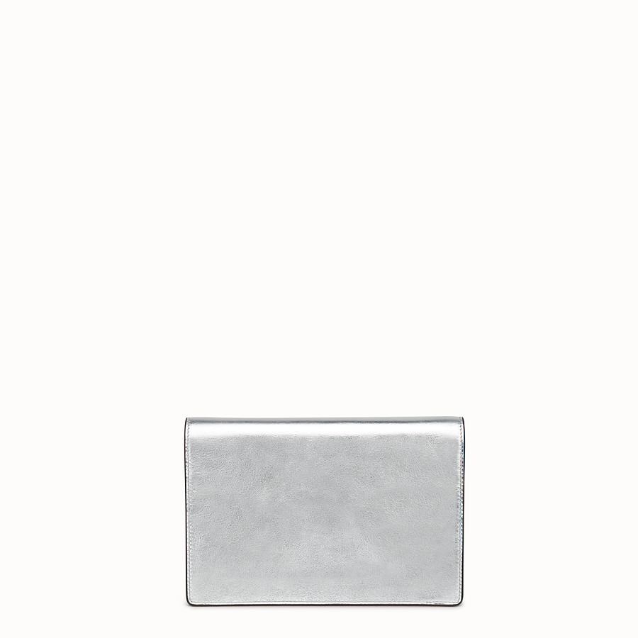 FENDI WALLET ON CHAIN - Silver leather mini-bag - view 3 detail