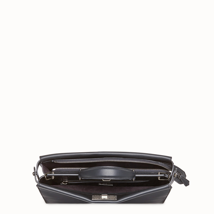 FENDI PEEKABOO FIT - Black leather bag - view 4 detail