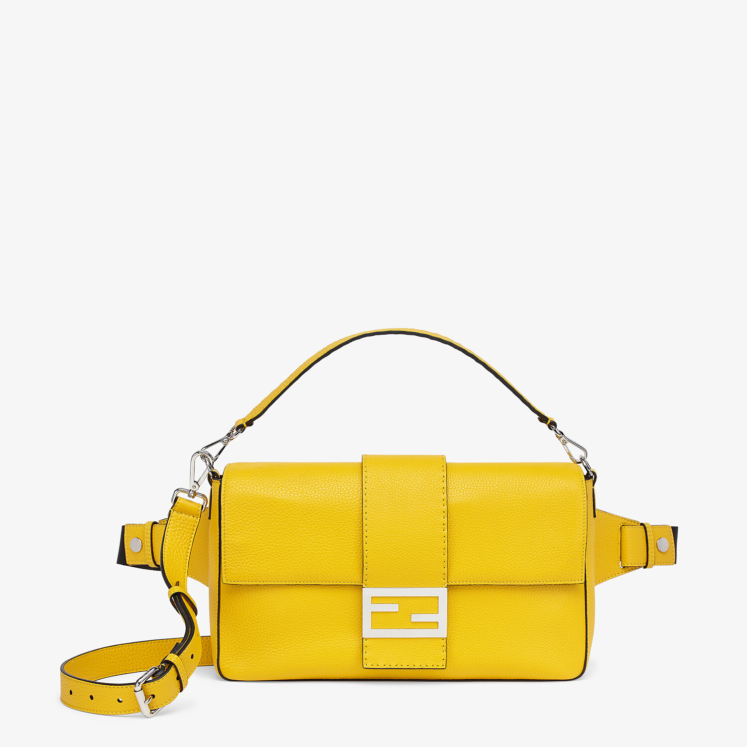 FENDI BAGUETTE LARGE - Yellow leather bag - view 1 detail