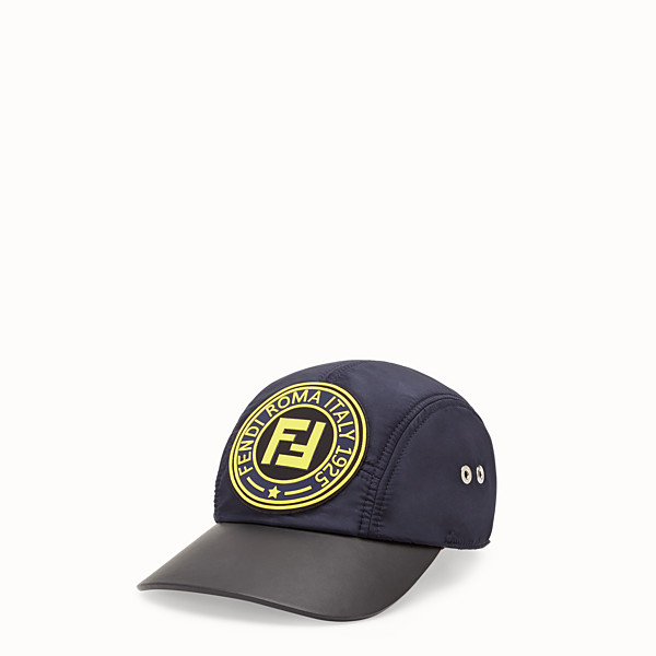 FENDI CAPPELLO - Baseball cap in nylon blu - vista 1 thumbnail piccola