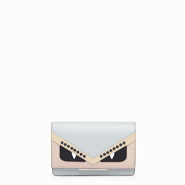 FENDI WALLET ON CHAIN - Grey leather mini-bag - view 1 small thumbnail
