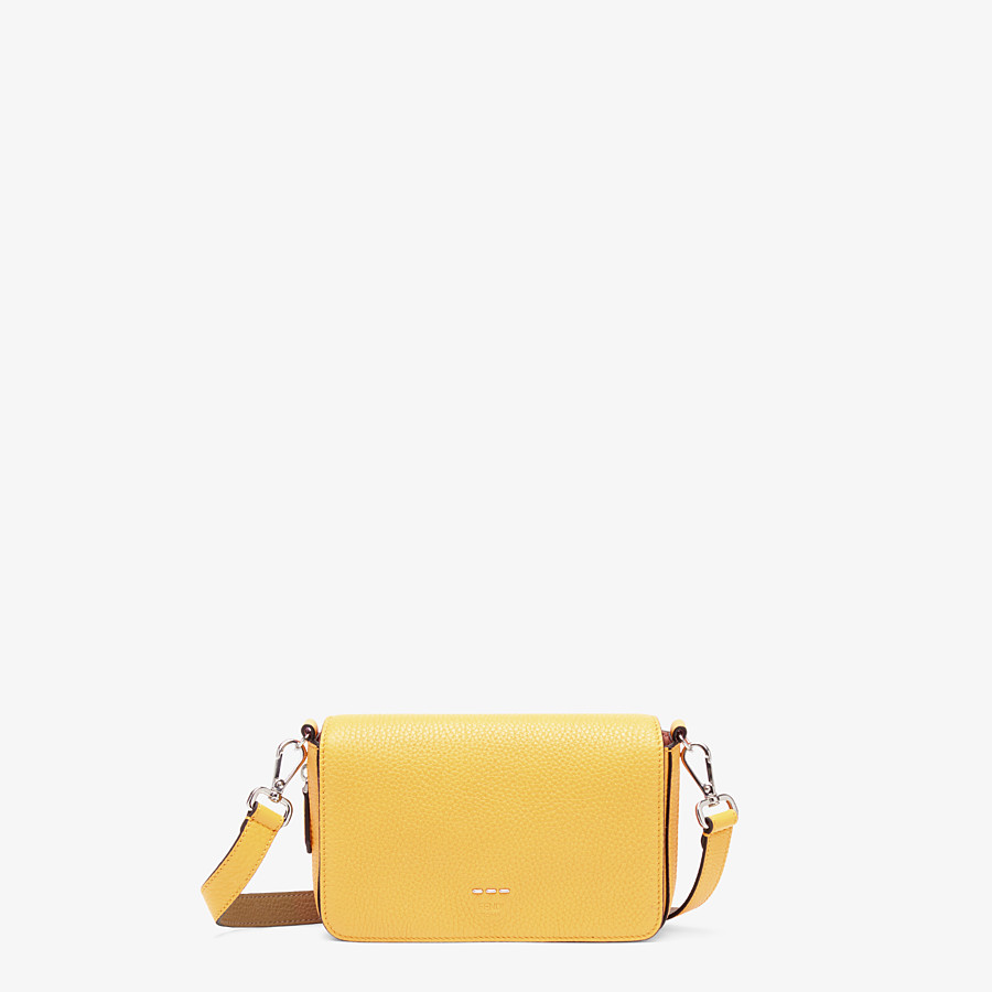 FENDI FLAP BAG - Yellow leather bag - view 1 detail