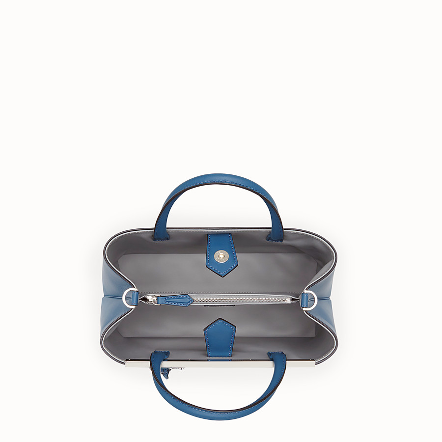 FENDI PETITE 2JOURS - Blue leather bag - view 4 detail