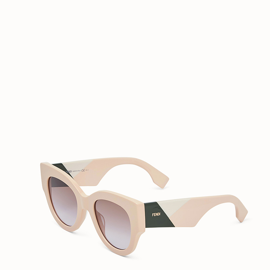 FENDI FENDI FACETS - Pink sunglasses - view 2 detail