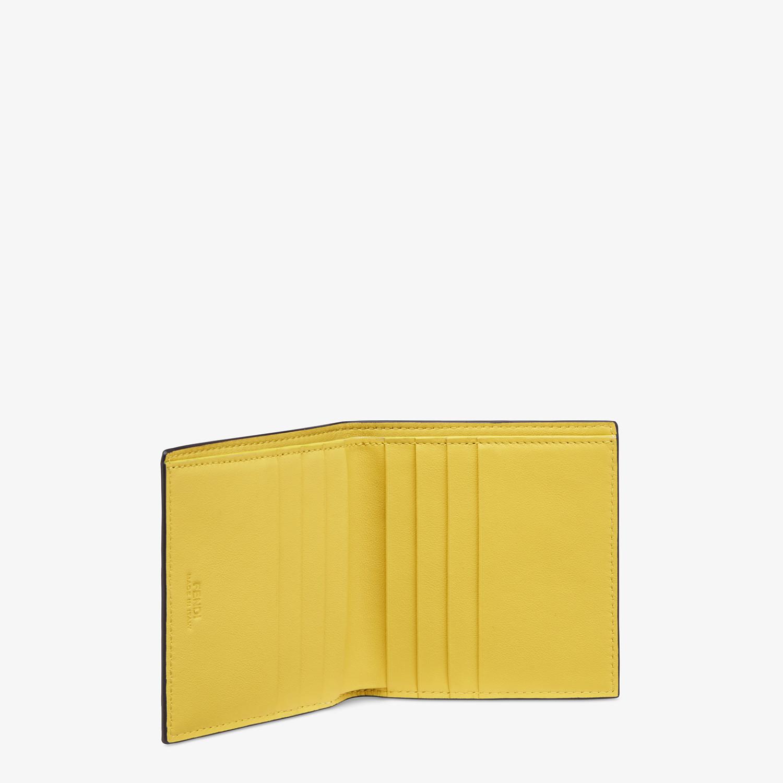 FENDI WALLET - Black calfskin bi-fold wallet - view 3 detail