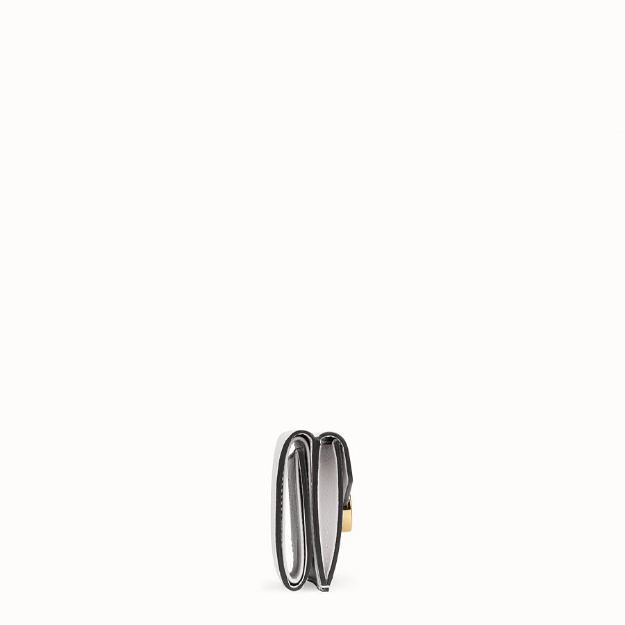 FENDI MICRO TRIFOLD - White leather wallet - view 3 detail