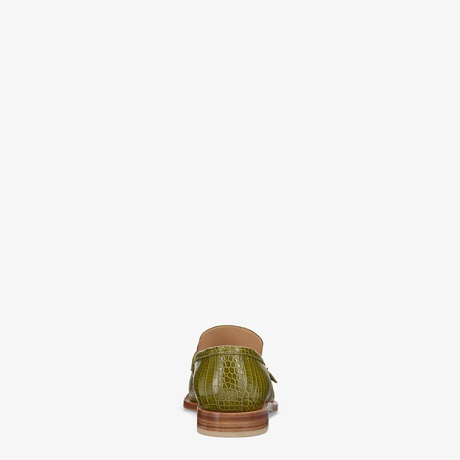 FENDI MOCASSINS - Mocassins en cuir vert - view 3 detail