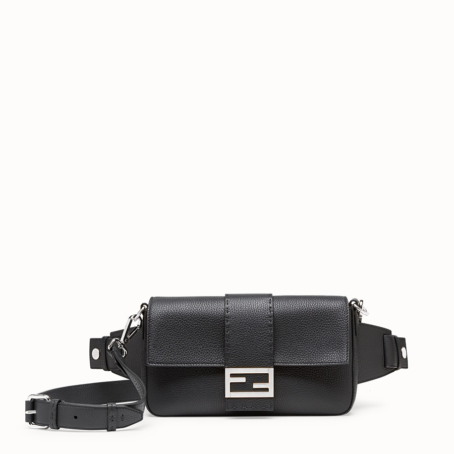 FENDI BAGUETTE - Black calf leather bag - view 1 detail