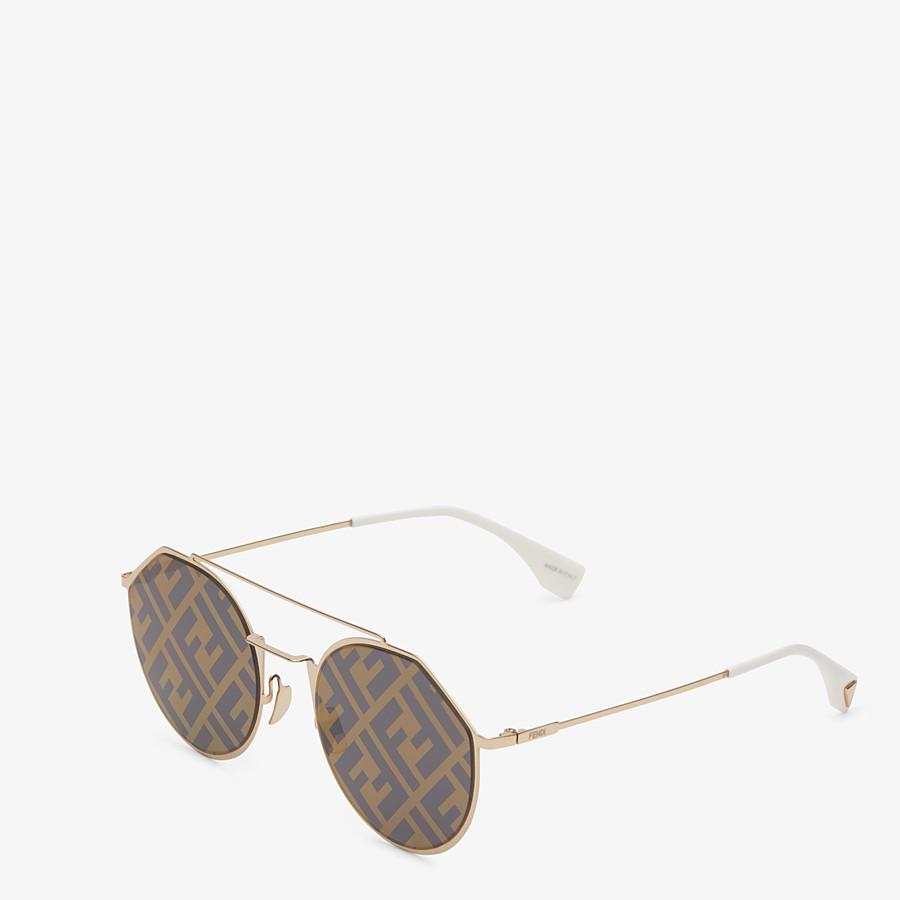 FENDI EYELINE - Gold-color sunglasses - view 2 detail