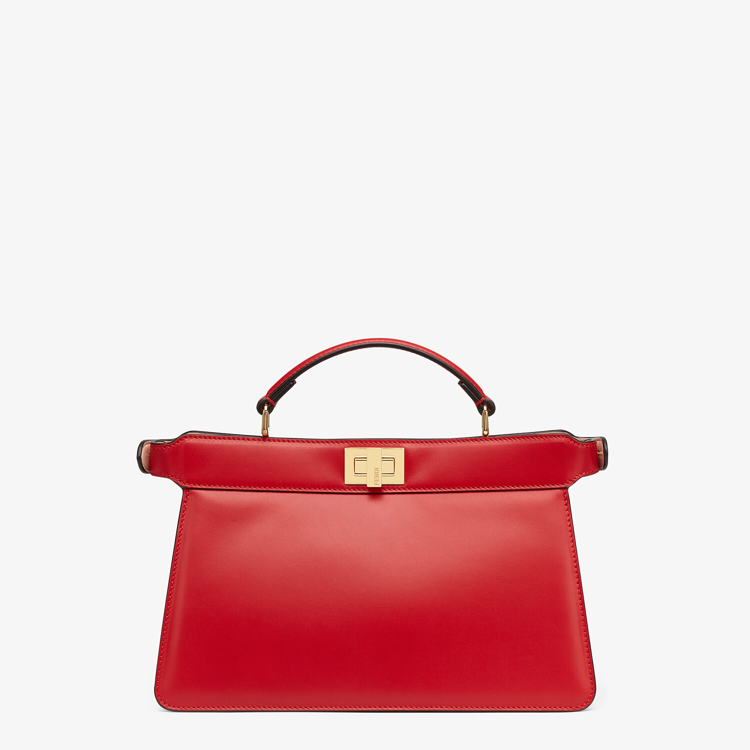 FENDI PEEKABOO ISEEU EAST-WEST - Red leather bag - view 4 detail