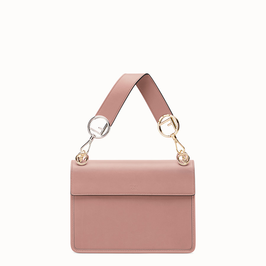 FENDI KAN I F - Pink leather bag - view 3 detail