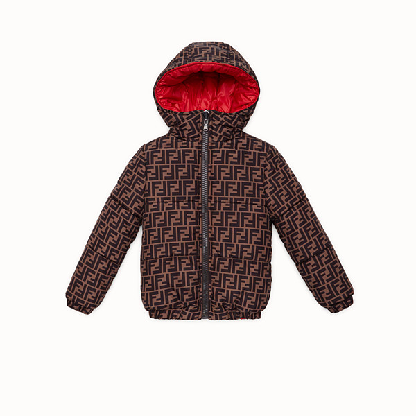 FENDI JACKET - Red nylon down jacket - view 1 small thumbnail