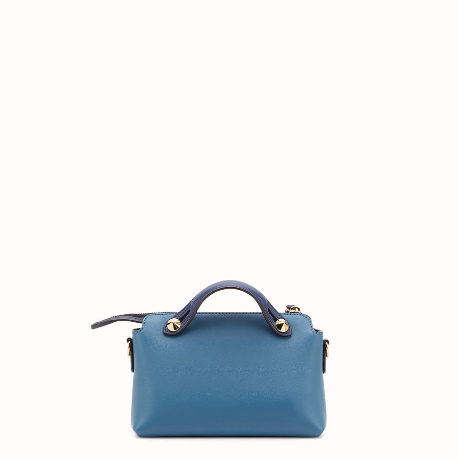 FENDI BY THE WAY MINI - Blue leather small Boston bag - view 3 detail