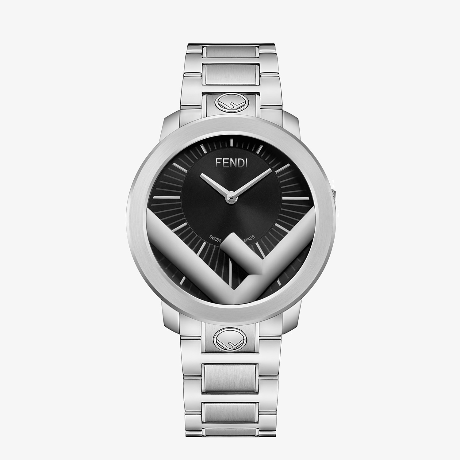 FENDI RUN AWAY - 41 mm (1.6 inch) - Watch with F is Fendi logo - view 1 detail