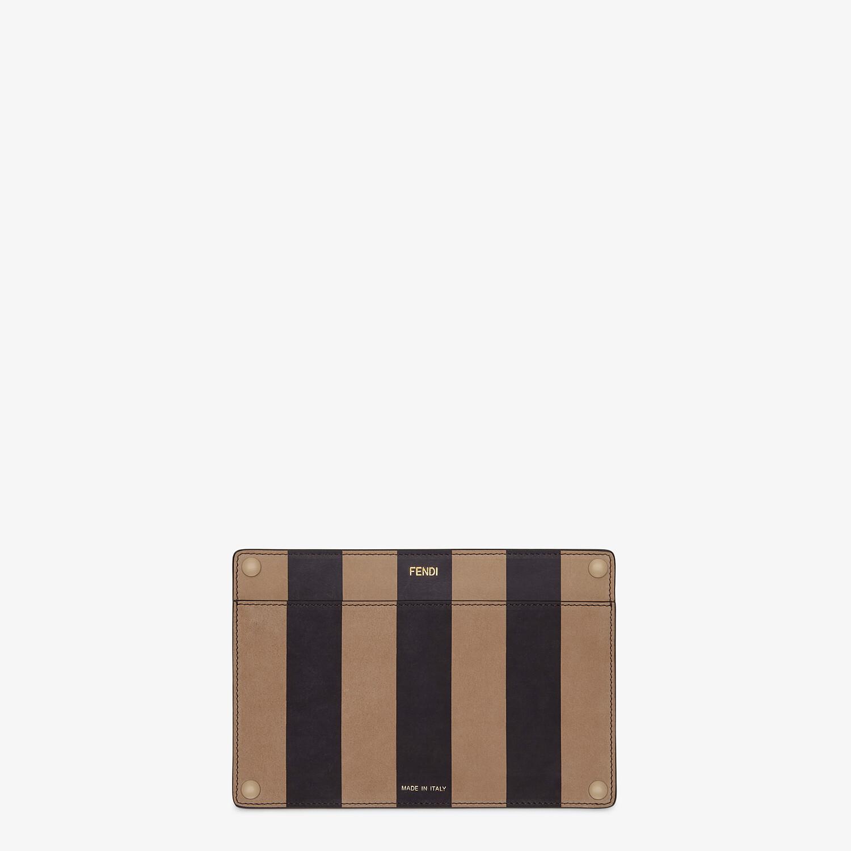 FENDI PEEKABOO ISEEU POCKET - Brown leather accessory pocket - view 1 detail