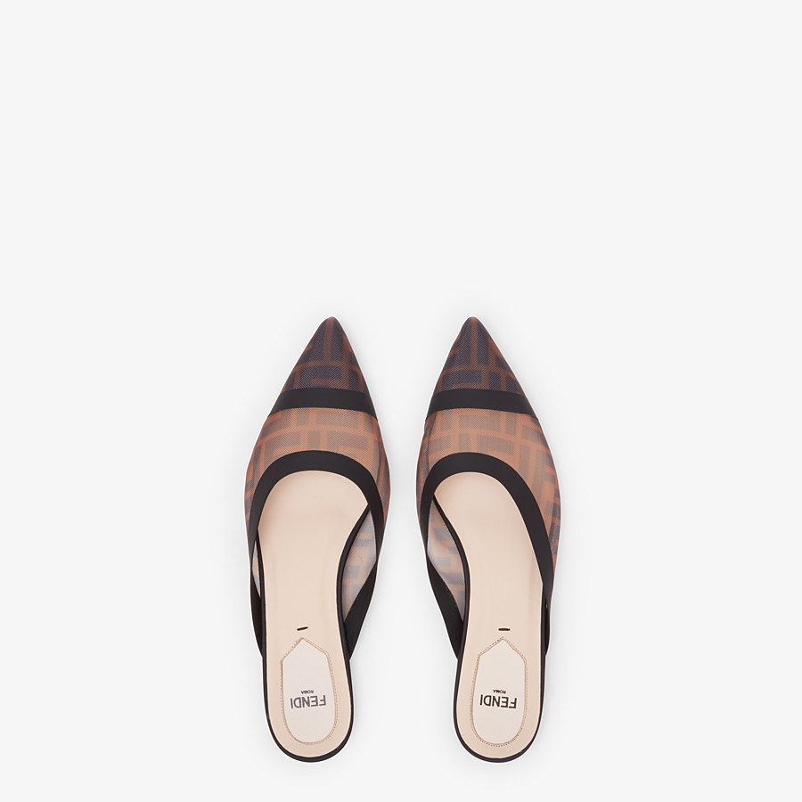 FENDI SLINGBACK - Sabots en filet marron - view 4 detail