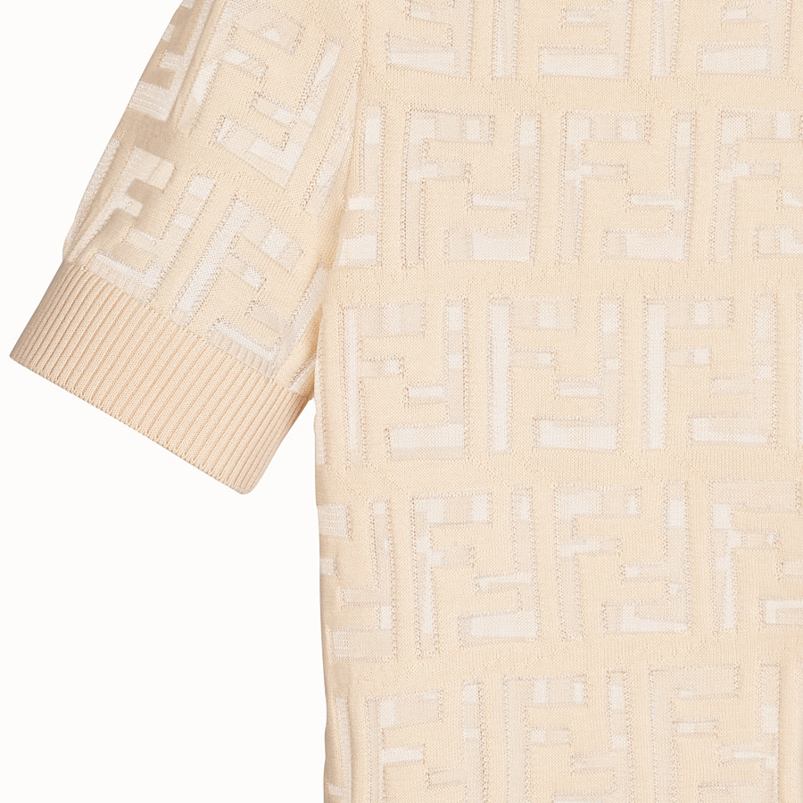 FENDI PULLOVER - Beige cotton jumper - view 3 detail