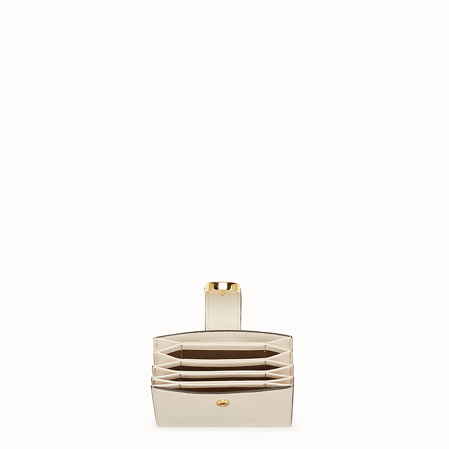 FENDI CARD HOLDER - White leather gusseted card holder - view 4 detail