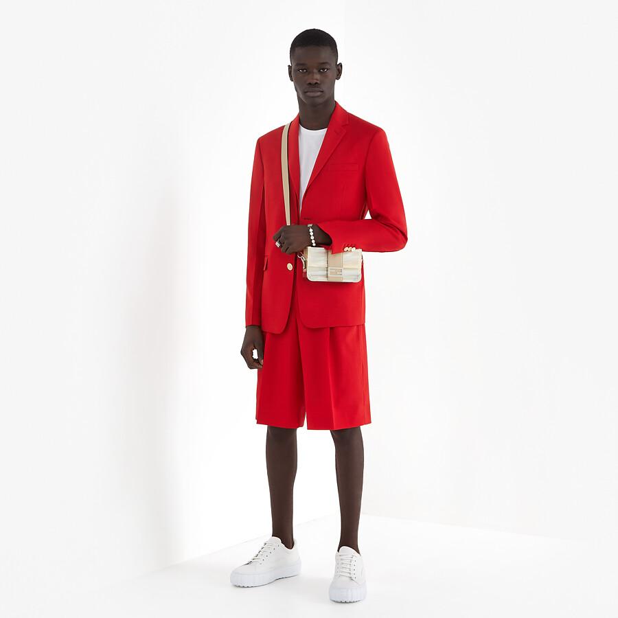 FENDI JACKET - Red wool jacket - view 6 detail