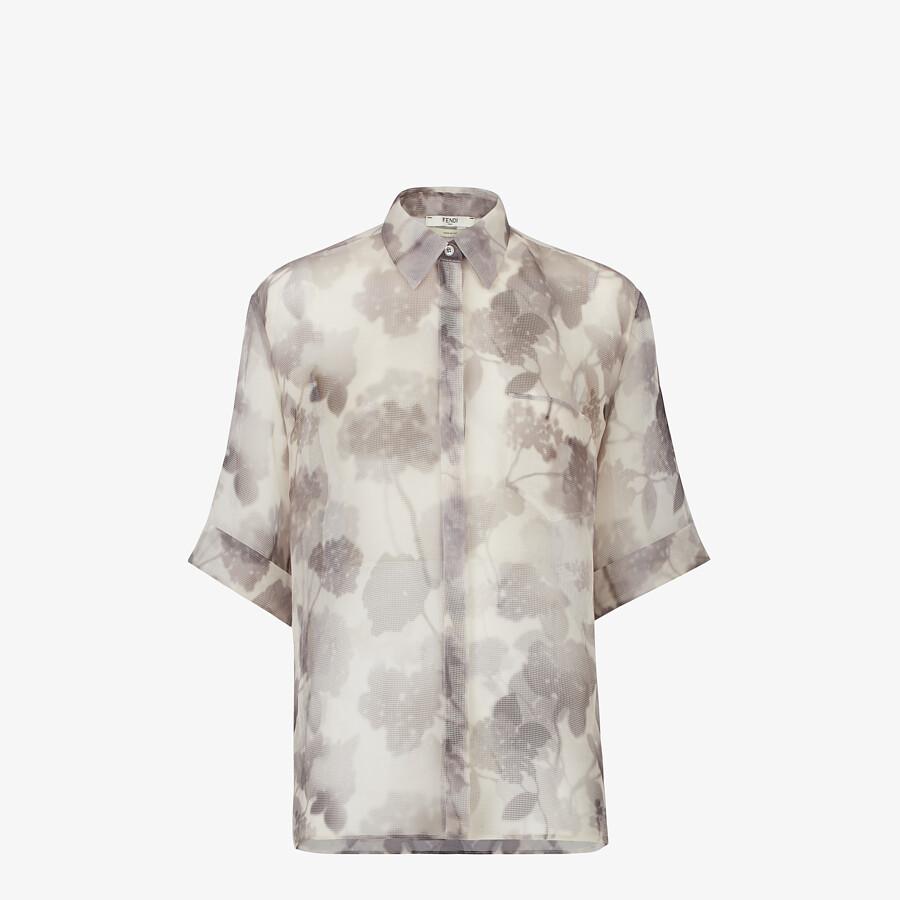 FENDI SHIRT - Gray organza shirt - view 1 detail