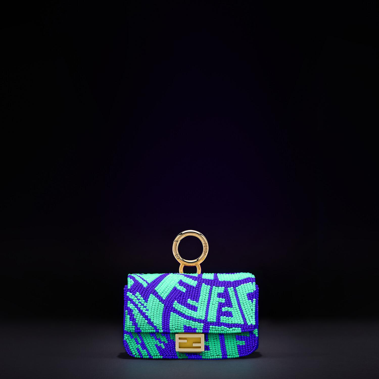 FENDI NANO BAGUETTE CHARM - Charm with yellow beads - view 5 detail
