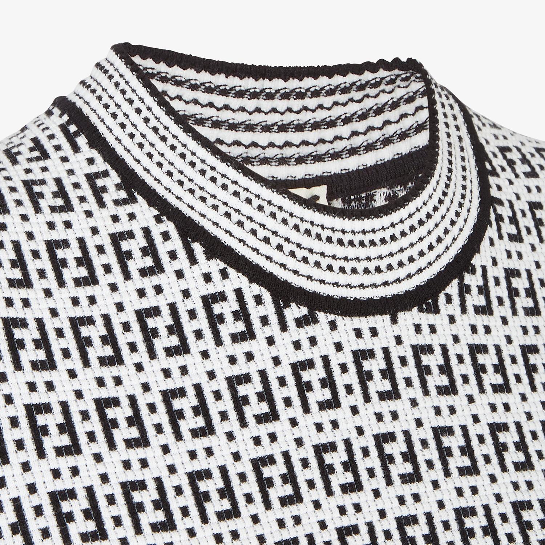 FENDI DRESS - White viscose dress - view 3 detail