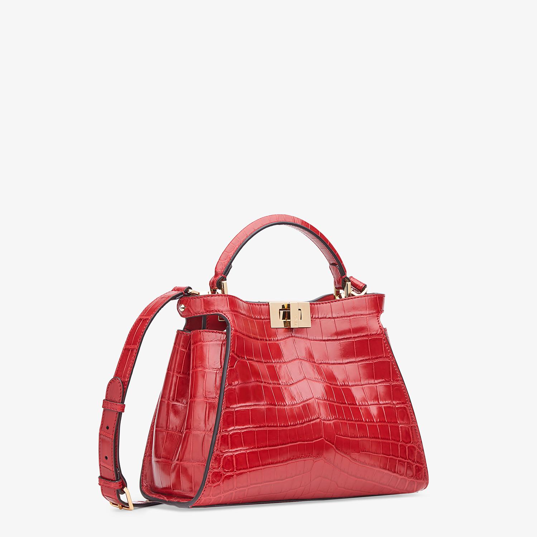 FENDI PEEKABOO ICONIC ESSENTIALLY - Red crocodile leather bag - view 2 detail