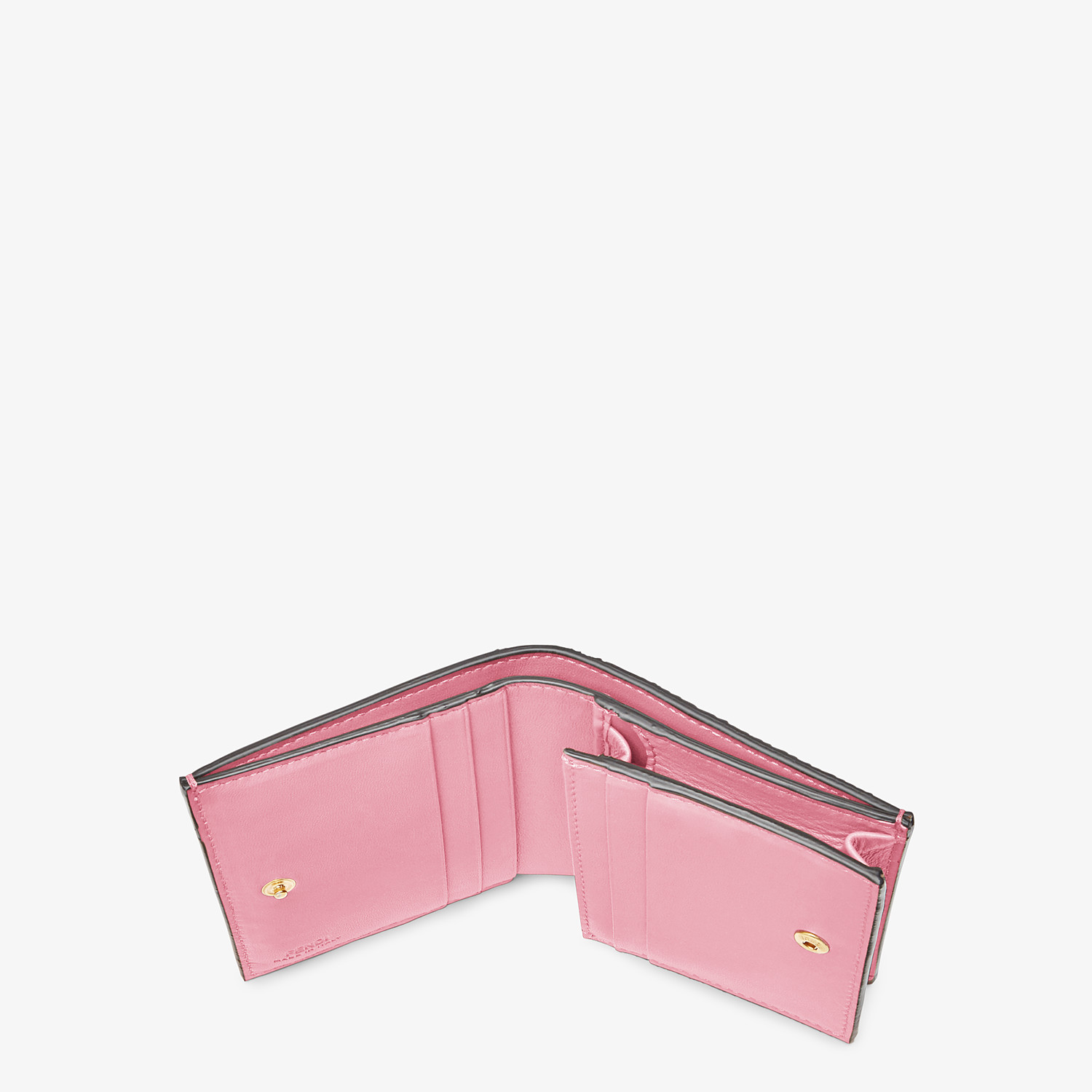 FENDI SMALL WALLET - Pink nappa leather wallet - view 4 detail