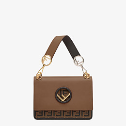 FENDI KAN I F - Brown leather bag - view 1 thumbnail