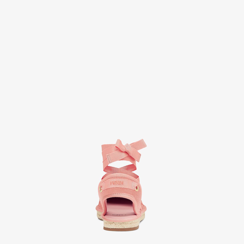 FENDI ESPADRILLES - Pink canvas espadrilles - view 3 detail