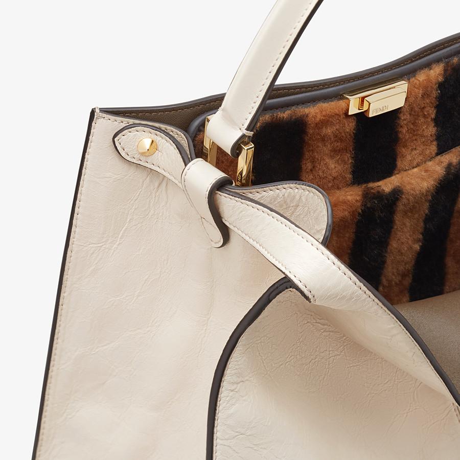 FENDI PEEKABOO X-LITE - White leather bag - view 7 detail