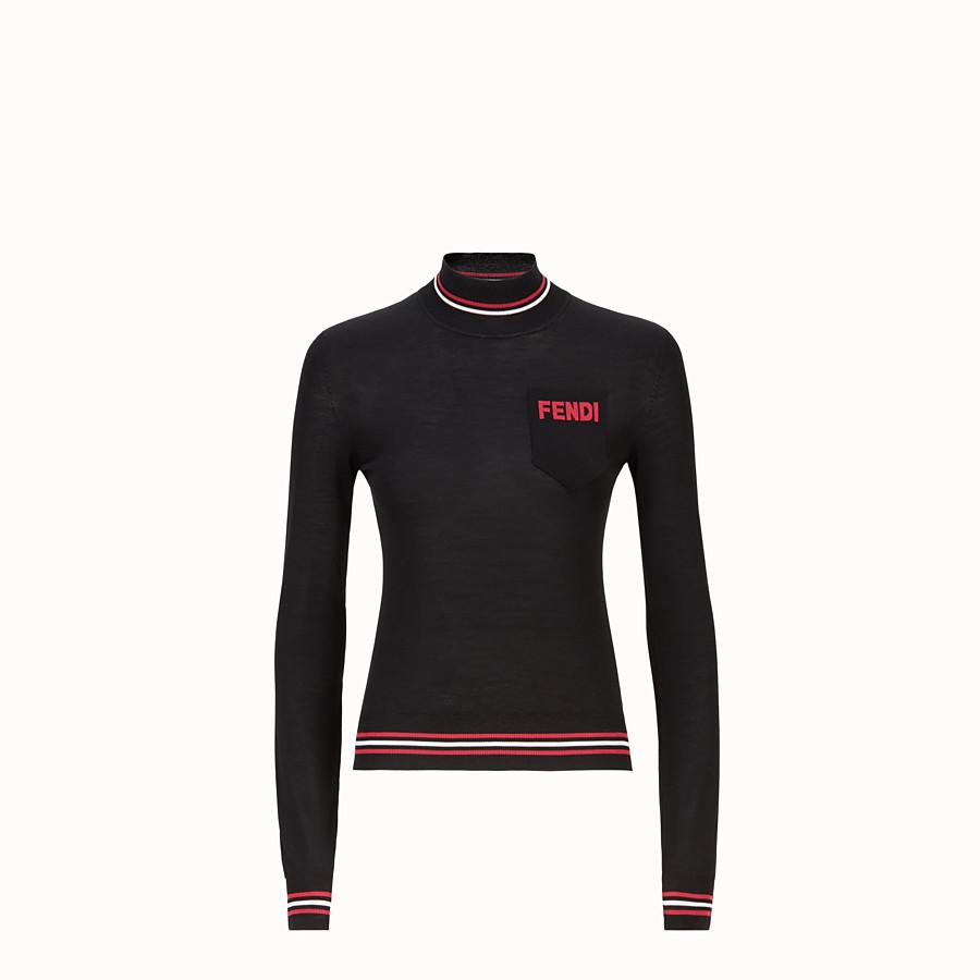 FENDI 스웨터 - 블랙 컬러의 실크 터틀넥 - view 1 detail
