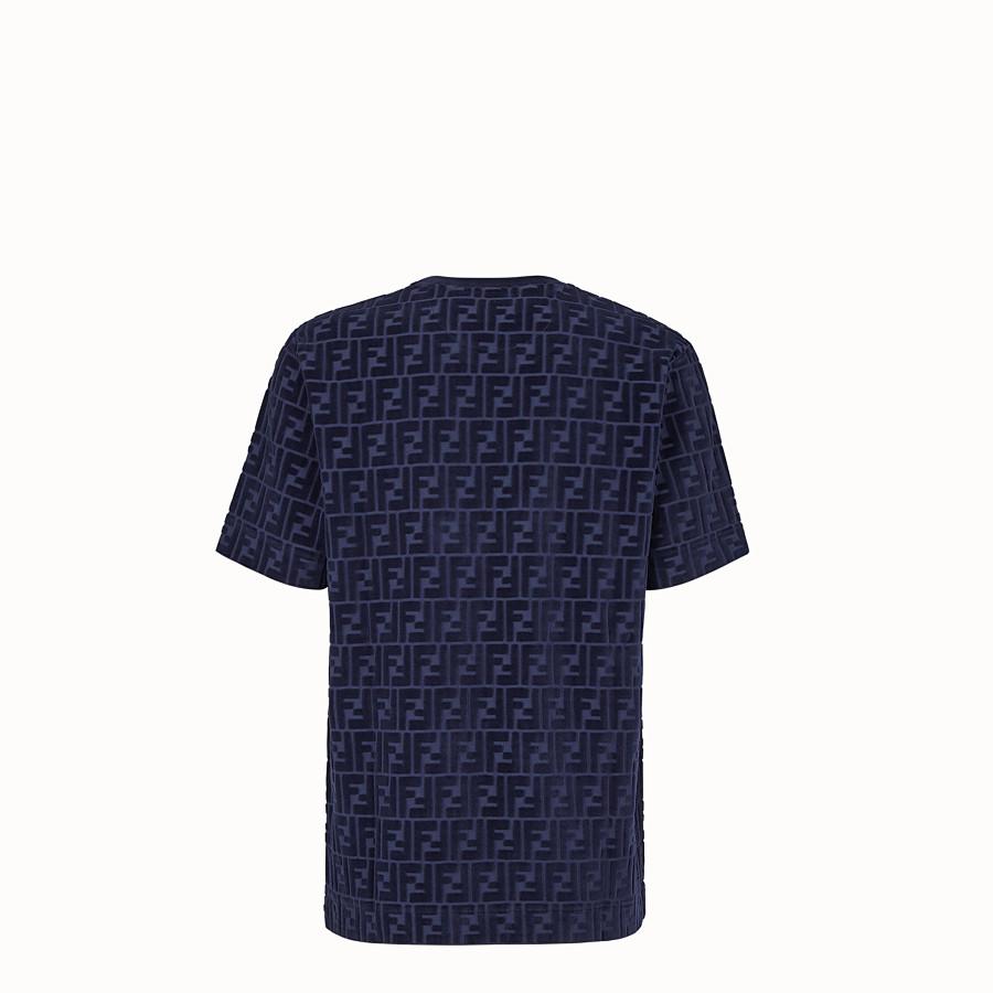 FENDI T-SHIRT - Blue chenille T-shirt - view 2 detail