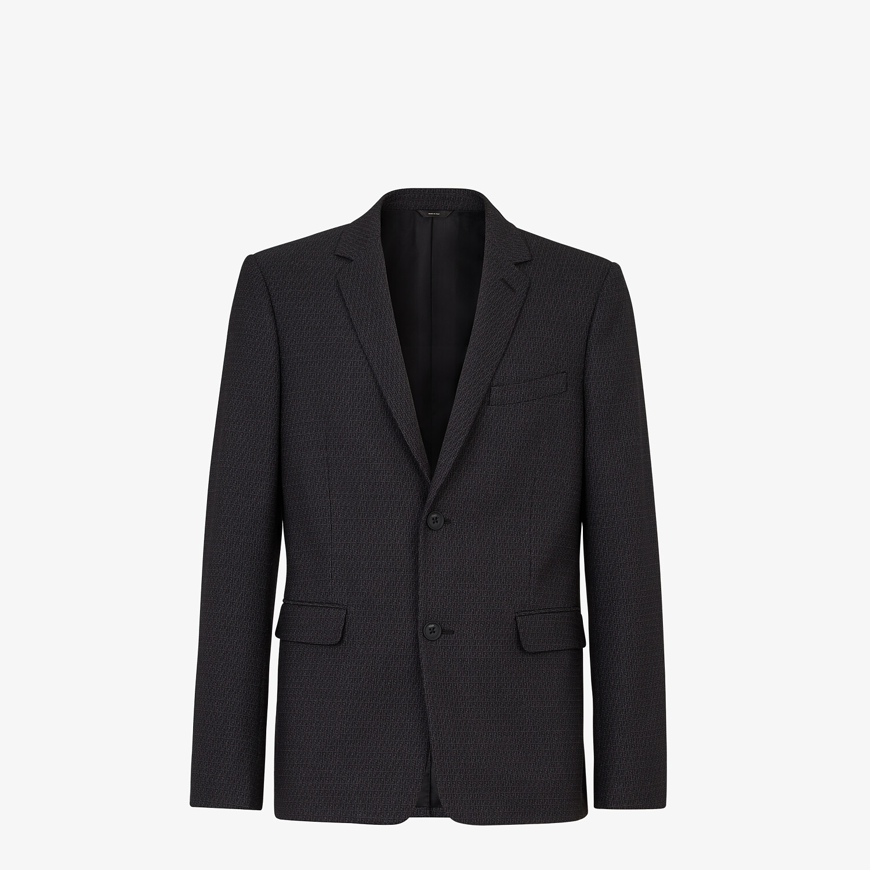 FENDI JACKET - Blue wool blazer - view 1 detail