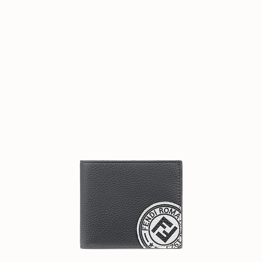 FENDI WALLET - Gray leather bi-fold wallet - view 1 detail