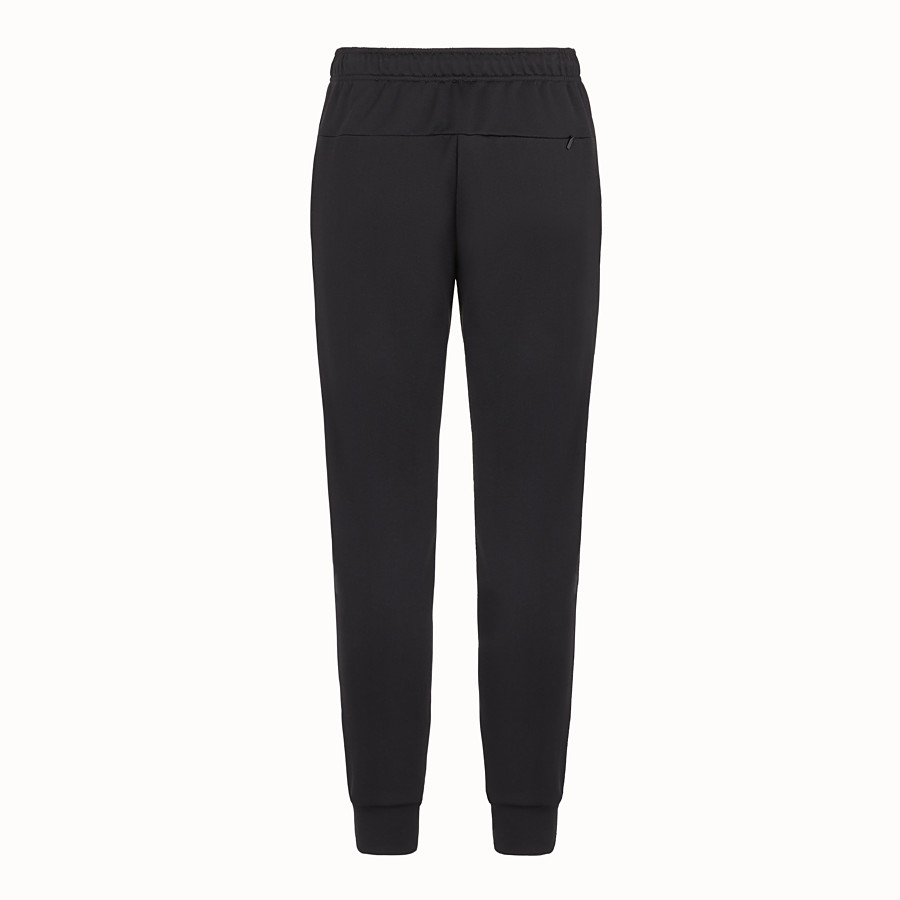 FENDI TROUSERS - Black tech jersey trousers - view 2 detail