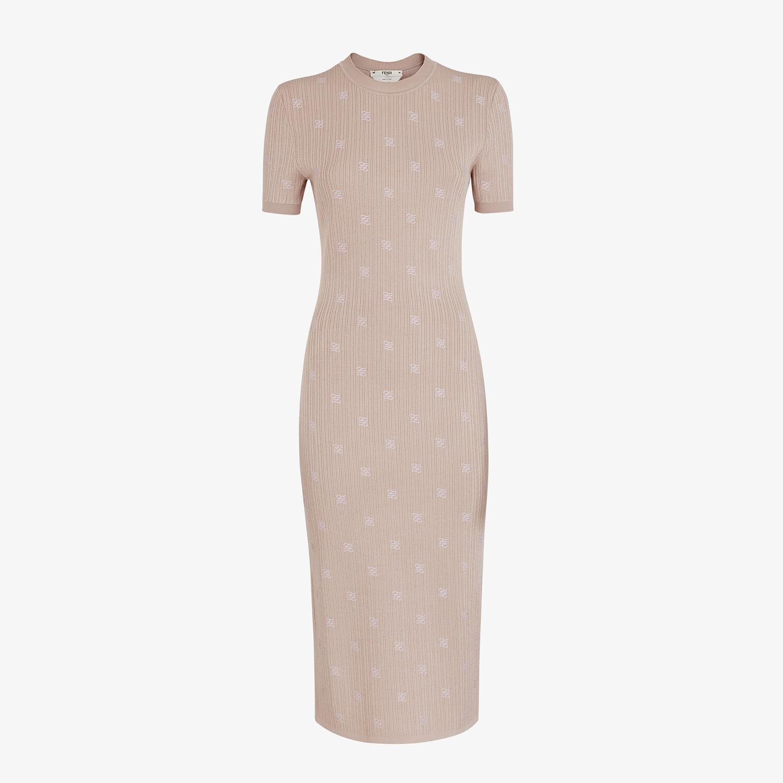 FENDI DRESS - Pink viscose dress - view 1 detail