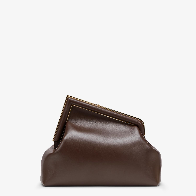 FENDI FENDI FIRST MEDIUM - Dark brown leather bag - view 4 detail