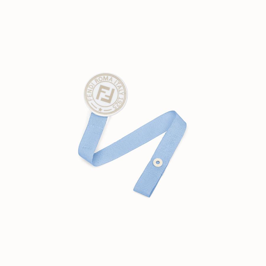 FENDI STAMP DUMMY CLIP - Pale blue nylon dummy clip - view 1 detail