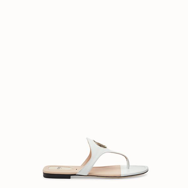 FENDI FLIP FLOPS - White leather sandals - view 1 small thumbnail