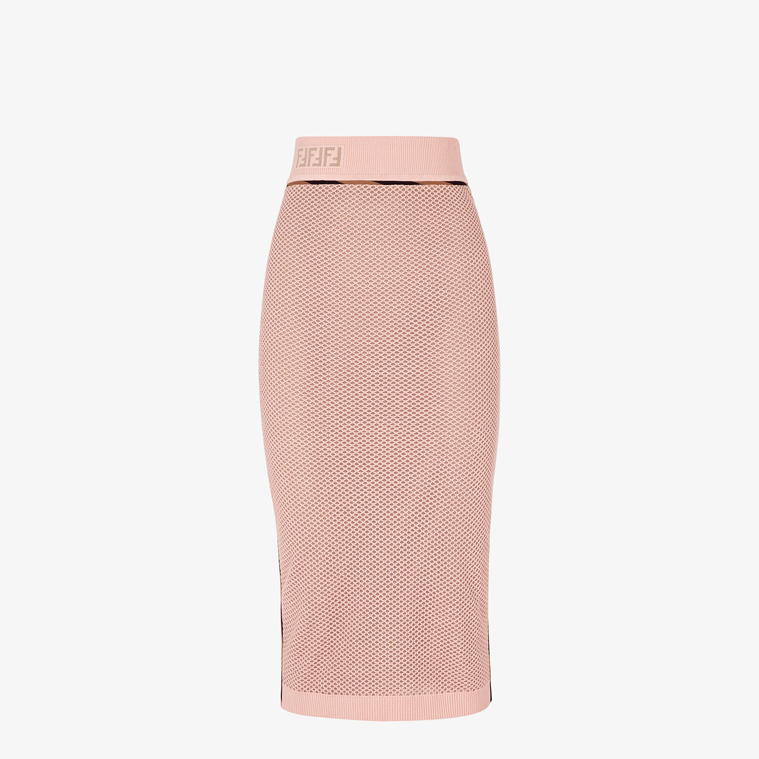 FENDI SKIRT - Pink mesh skirt - view 1 detail