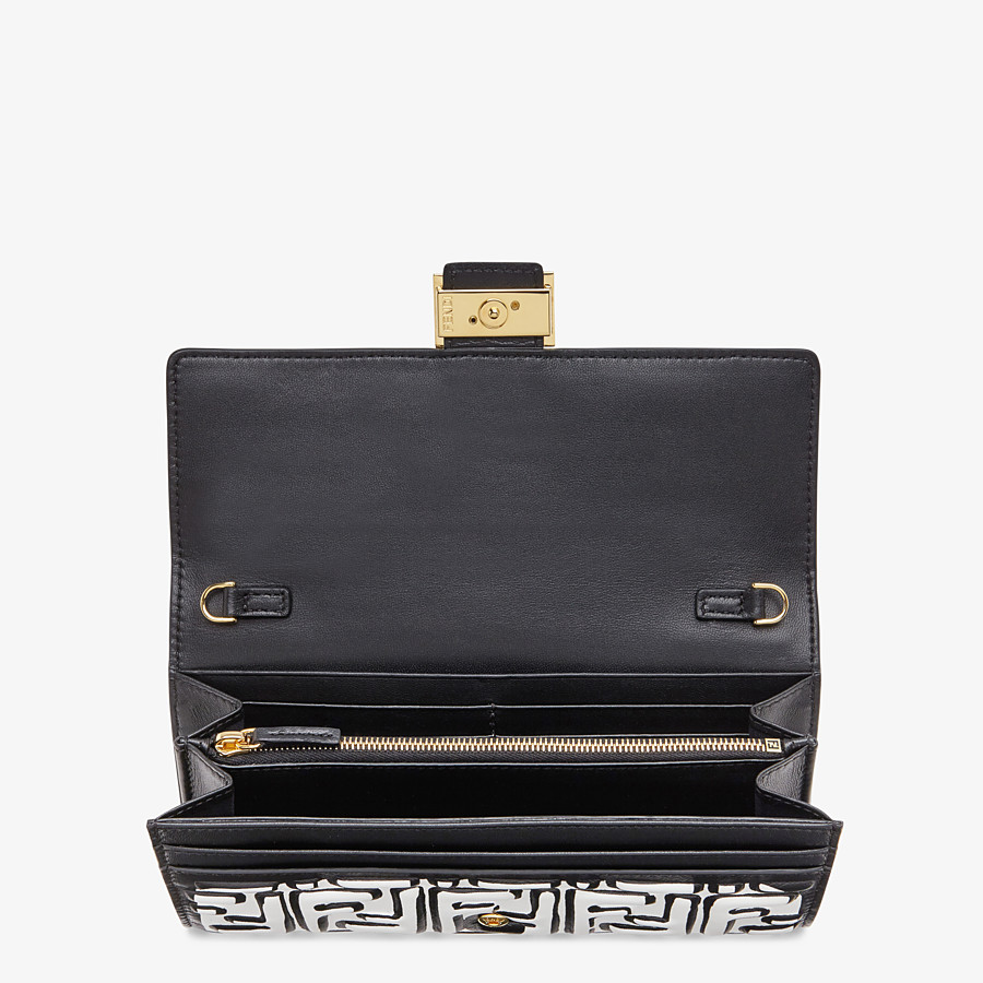 FENDI CONTINENTAL WITH CHAIN - White nappa leather wallet - view 4 detail