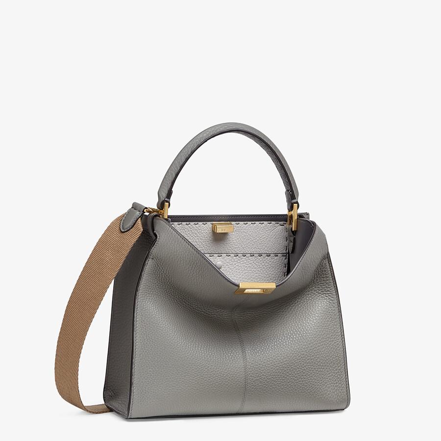 FENDI PEEKABOO X-LITE MEDIUM - Gray Cuoio Romano leather bag - view 3 detail